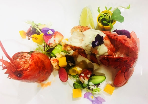 Slow Cooked Boston Lobster with Garden Salad